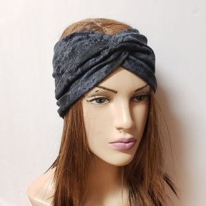 Wide Granite Turban Headband Turbans Head Wraps